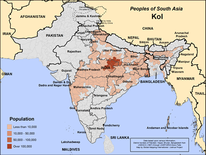Map of Kol in India