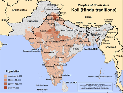 Koli (Hindu traditions) in India