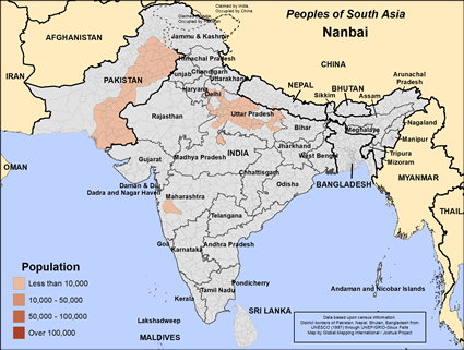 Map of Nanbai in India
