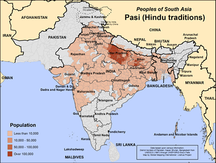 Map of Pasi (Hindu traditions) in Bangladesh