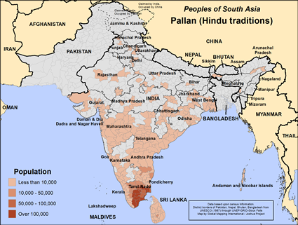 Map of Pallan (Hindu traditions) in India