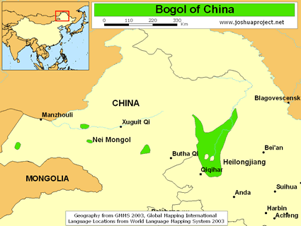 Map of Bogol in China