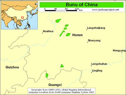 Map of Bunu in China