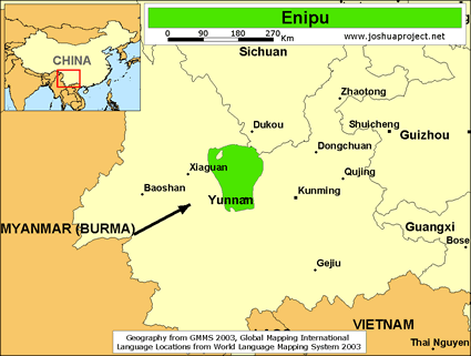 Map of Enipu in China