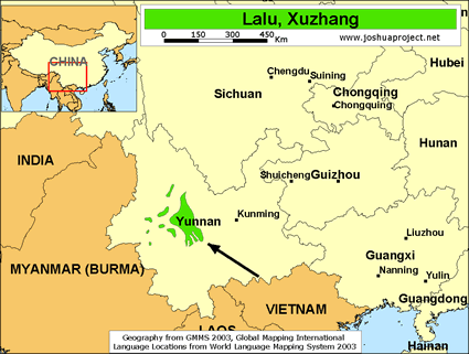 Map of Lalu, Xuzhang in China