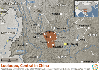 Map of Luoluopo, Central in China