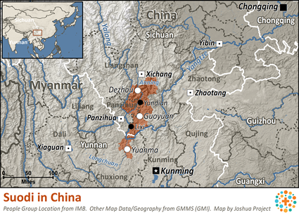 Map of Suodi in China