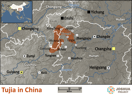 Map of Tujia in China