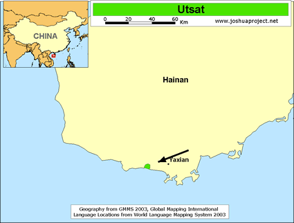 Map of Utsat in China