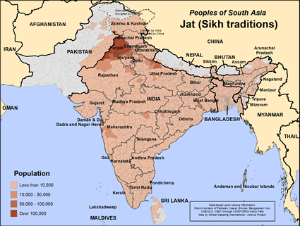 Map of Jat (Sikh traditions) in Nepal