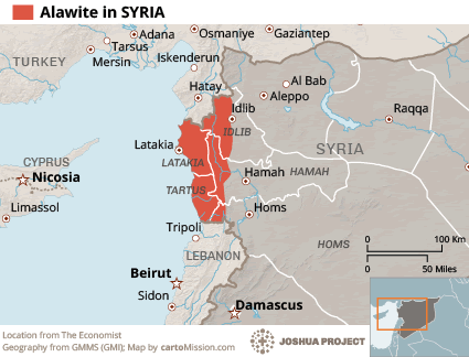 Map of Alawite in Syria