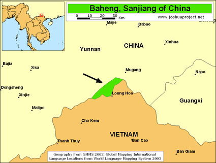 Map of Baheng in China