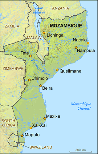 Map of Deaf in Mozambique