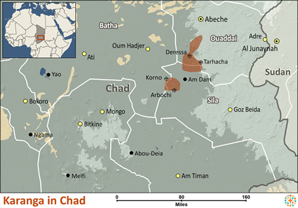 Map of Karanga in Chad