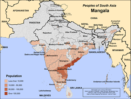 Map of Mangala in India