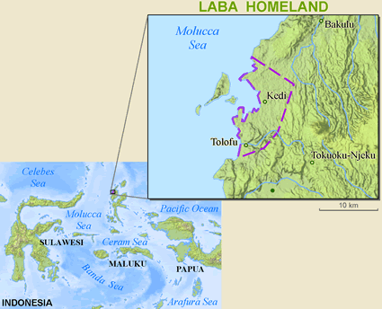 Map of Loloda in Indonesia