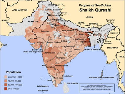Map of Shaikh Qureshi in Pakistan