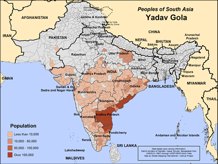 Map of Yadav Gola in India