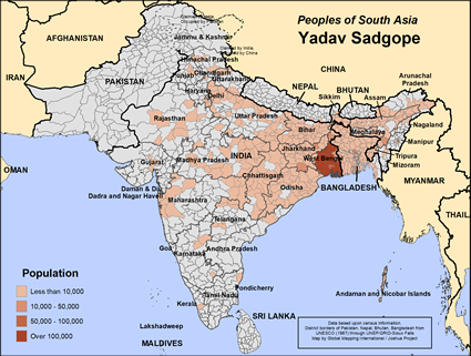 Map of Yadav Sadgope in Bangladesh
